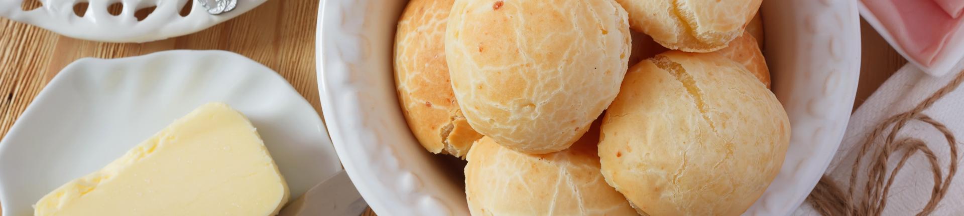 Pão de queijo sem glúten, ovo e óleo