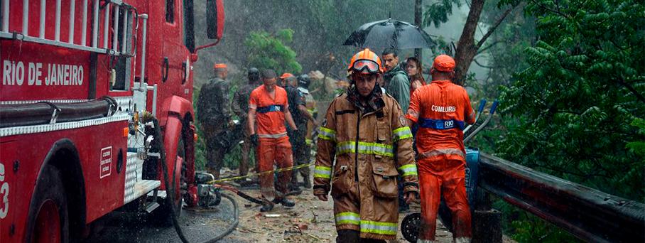 Pontos de coleta para a chuva no Rio de Janeiro